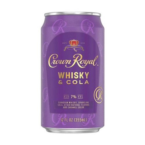 This ready-to-drink classic cocktail from Crown Royal is a delicious combination of Canadian Whisky and sparkling cola.