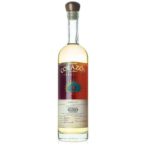 Expresiones del Corazón is the collection of barrel-aged tequilas from Corazón Tequila, a tequila brand made at Casa San Matías Distillery in Jalisco. This tequila was aged for 19 months in former Thomas H. Handy Sazerac Rye barrels. Bottled at 80 proof.