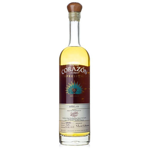 Corazon Expresiones Anejo Sazerac Rye Barrel is an exciting development with Buffalo Trace Distillery. This spirit is aged for two years in Sazerac Rye whiskey barrels, giving it intensely complex flavor. The powerful nose of this tequila will bring to mind the scents of the ocean, with a hit of lemon juice. The palate has a hint of smoke, with strong agave flavor tempered by sweet vanilla, caramel, and mint.