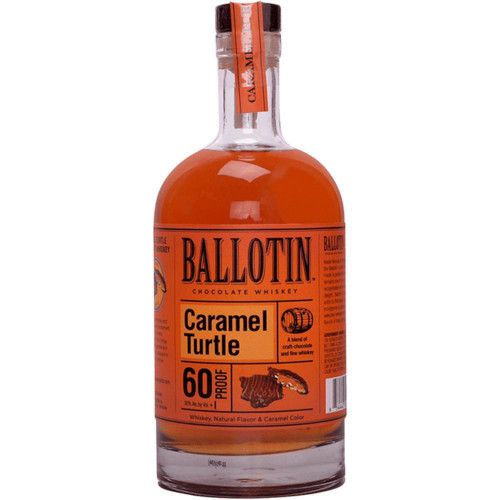These distinctive whiskey and chocolate pairings complement and elevate any occasion. Ballotin Caramel Turtle brings together creamy caramel and rich pecan flavors, wrapped in dark chocolate and amber whiskey notes.