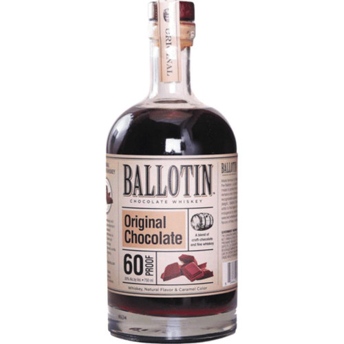 Ballotin Original Chocolate Whiskey is deliciously smooth, with rich flavors of chocolate fudge mingling with the oak and vanilla undertones from the whiskey.