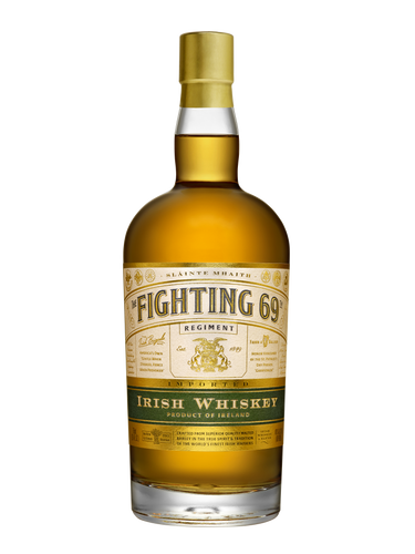 The Fighting 69th Irish Whiskey is distilled, aged and bottled on the southern Irish coast, in accordance with Irish Law, and it is then imported.  Our whiskey is made from barley, malted-barley, and corn.  It is a blend of whiskies that are triple-distilled in copper pot stills, as well as distilled in continuous column stills.
