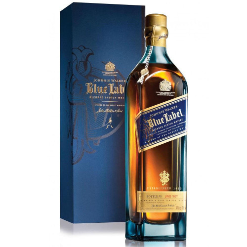 Johnnie Walker Blue Label is an unrivaled masterpiece – an exquisite combination of Scotland's rarest and most exceptional whiskies. Only one in every ten thousand casks has the elusive quality, character and flavor to deliver the remarkable signature taste. An extraordinary whisky for extraordinary occasions.