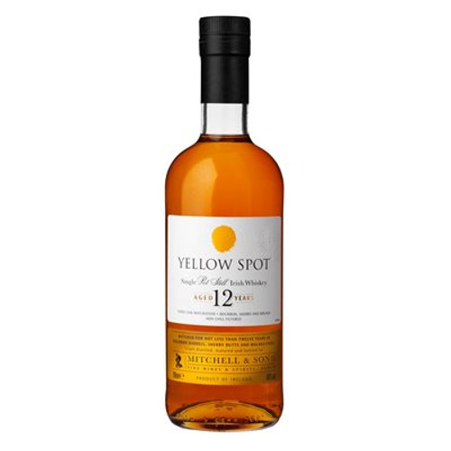 While Green Spot is often described as tasting like green apples, Yellow Spot is more in character with juicy red apples. Sophisticated and complex in character, the inclusion of full term matured whiskey from ex Malaga casks contributes exotic characteristics to the whiskey.