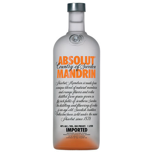 The taste of summery orange peel and citrus fruits pair perfectly in this truly mandarin flavored vodka. The fruity and fresh character of Absolut Mandrin is as rich as it is smooth.