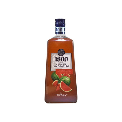 1800 has yet another delicious watermelon cocktail that's ready-to-serve—just pour and enjoy. This cocktail has premium tequila perfectly blended with the flavor of fresh watermelon, extract of lime and Triple Sec for a refreshing crisp bite and tangy finish