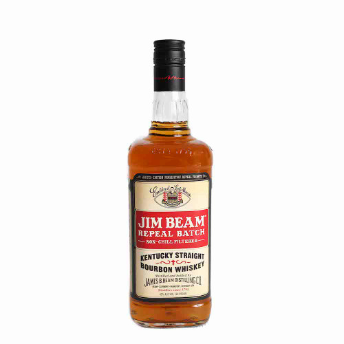 Jim Beam Repeal Batch Bourbon is bottled at 86 Proof and non-chill filtered. This Repeal Batch is inspired by the way we made it after prohibition. That means all nuances of flavor gained through the interaction of the whiskey and the barrel remain for you to enjoy.