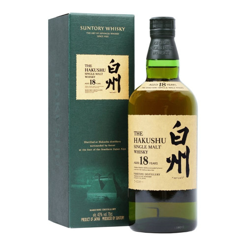 A massive step up in quality from the standard Hakushu 12 year, this 18 year old is amazingly well-defined, as we've come to expect from Japanese whisky, with deliciously rounded fruit and cereal flavors, at times surprisingly reminiscent of the finest Irish potsill whisky.