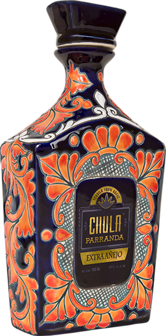 Chula Parranda Extra Anejo is an Ultra Premium Tequila handcrafted from the finest 100% Weber Blue Agave. Aged for over 3 years, Chula Parranda Tequila ages in American Oak barrels, previously used for ageing Bourbon, and also French Oak barrels, which were previously used for Cognac. Amazingly smooth with cooked agave and tones of toasted almonds and vanilla. Perfect to enjoy neat or on the rocks.