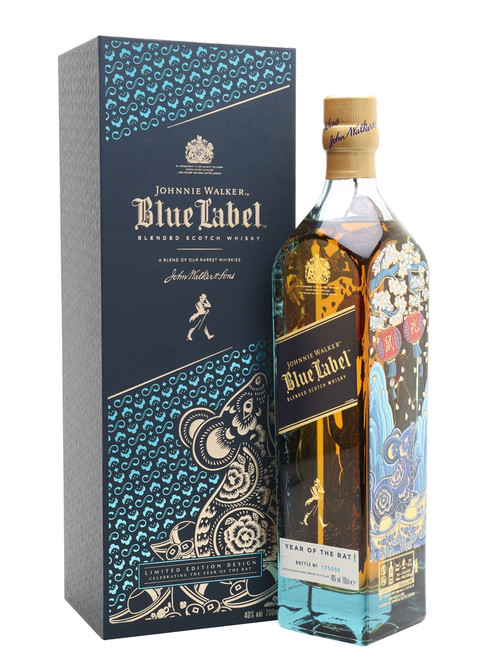 A limited-edition blended whisky from Johnny Walker which celebrates Chinese New Year 2020 and the Year of the Rat. This special bottle of Blue Label features illustrations by artist Shirley Gong, reflecting the prosperity and abundance that the Rat's arrival signifies. Mellow and rounded aromas of dry smoke and sweet raisins fill the nose, with notes of hazelnuts, honey, rose petals, orange and aromatic smoke on the palate.
