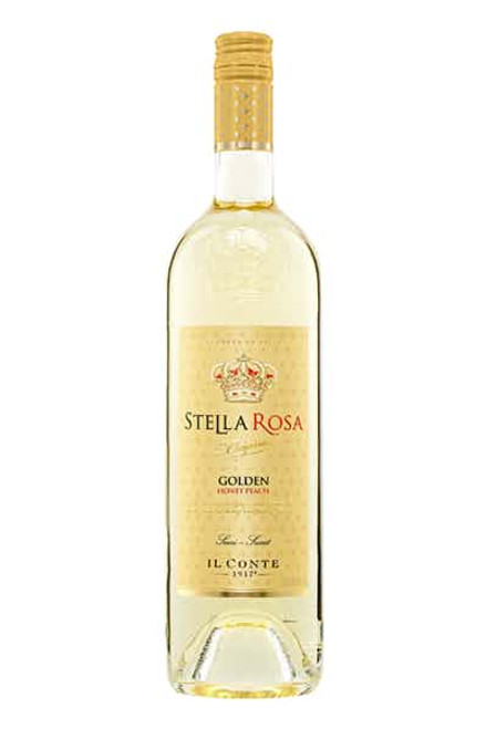 """Embody the confidence that comes with Stella Rosa Golden Honey Peach. Others will say it is too """"extra"""" but really, those others are """"not enough."""" Shine bright, baby!"""
