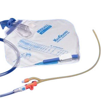 100% Silicone 2-Way Closed Foley Catheter Tray 18 fr 5 cc (Sold by the Case of 10)