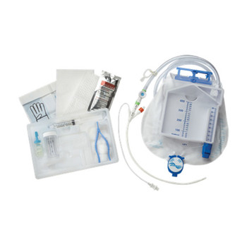Level 1 Urine Meter Foley Tray with 400 Series Foley Catheter Temperature Sensor, 16 fr EACH