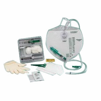 Complete Care Add-A-Foley Tray with Drainage Bag and BARD Safety Flow Outlet Device
