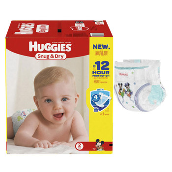 HUGGIES Snug and Dry Diapers, Size 2, Mega Colossal Pack, 80 Count Sold by Pack(age) of 80