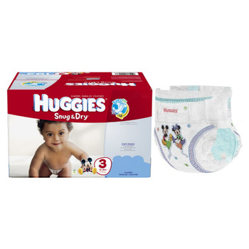 HUGGIES Snug and Dry Diapers, Size 3, Mega Colossal Pack, 72 Count Sold by Case of 216