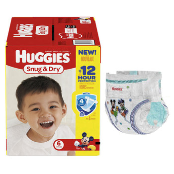 HUGGIES Snug and Dry Diapers Size 6, Mega Colossal Pack, 68 Count Sold by Pack(age) of 68