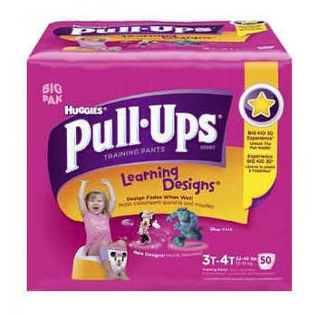 Pull-Ups Learning Designs Training Pants 3t-4t, Girl Big Pack Sold by Case of 96