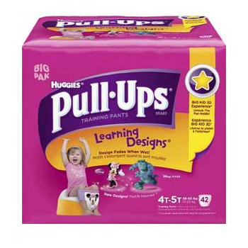 Pull-Ups Learning Designs Training Pants 4t-5t, Girl Big Pack Sold by Case of 80