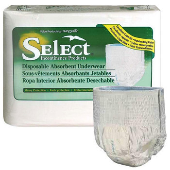 Select Disposable Heavy Protection Youth Underwear 38 - 65 lbs Sold by Pack(age) of 12
