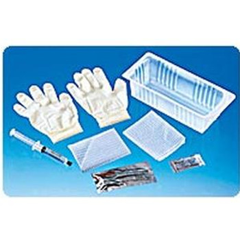 Foley Catheter Tray with 30 cc Pre-Filled Syringe and PVP Swabs