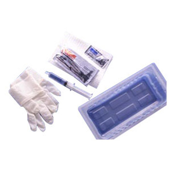 Foley Catheter Tray with 30 cc Pre-Filled Syringe and BZK Swabs Sold by Pack(age) of 1