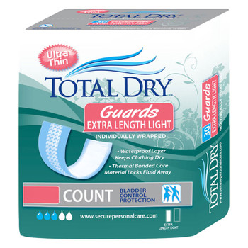"""TotalDry Extra Length Guards Light, 3.5"""" x 11"""" Sold by Pack(age) of 30"""