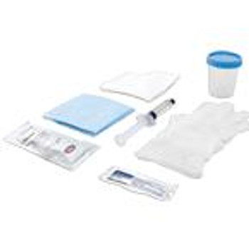 Cardinal Foley Catheter Insertion Tray with 30 mL Pre-Filled Syringe