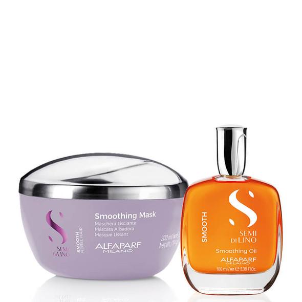 Alfaparf Semi Di Lino Smooth - Treatment Bundle