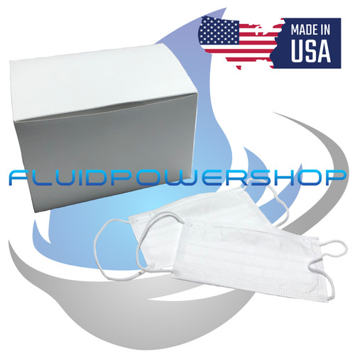 3 PLY DISPOSABLE FACE MASKS 50ct BOXES MADE IN THE USA FREE SHIPPING