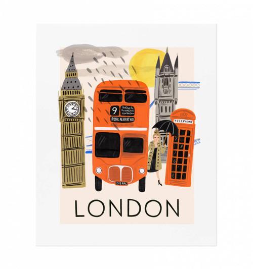 London Rainy Day 11x14 Art Print