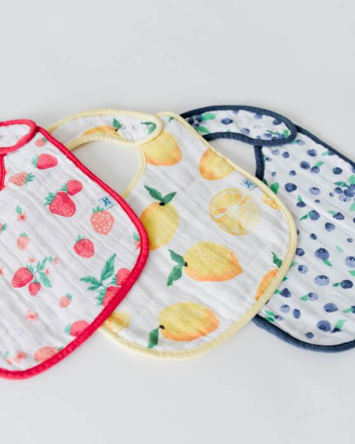 LU- Berry/Lemonade Bib 3pk