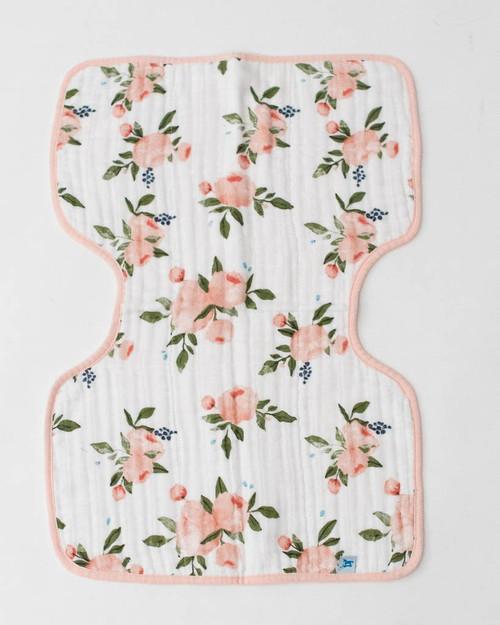 LU- Watercolor Roses Burp Cloth