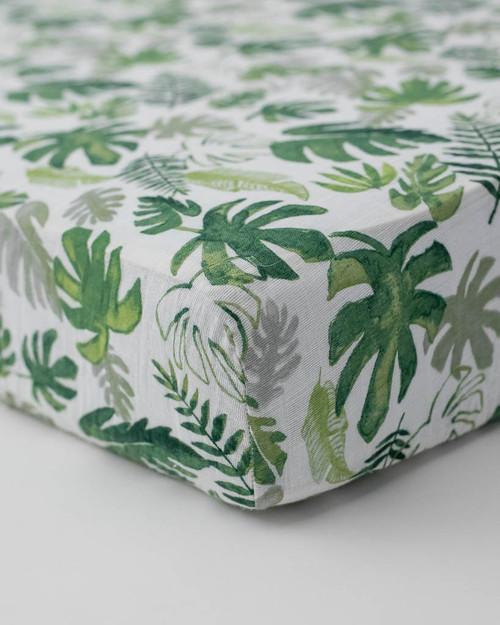 LU- Tropical Leaf Crib Sheet