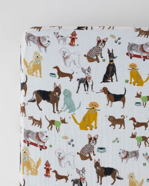 LU- Woof Crib Sheets