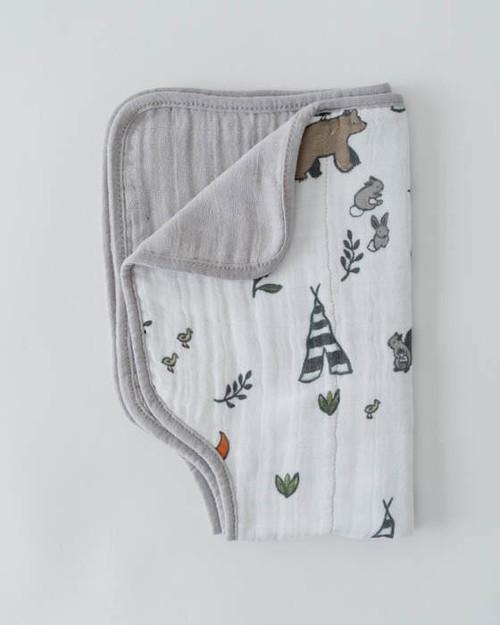 LU- Forest Friends Burp Cloth