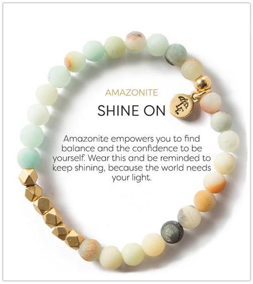 LE- Amazonite 6mm Bracelet