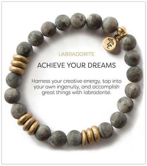Labradorite Stretch Bracelet (medium gemstones)