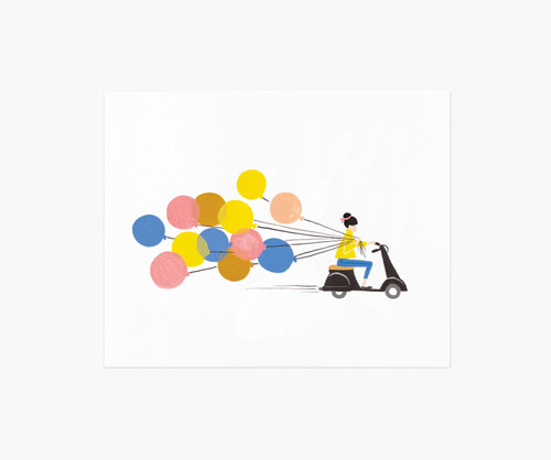 Balloon Ride 8x10 Art Print