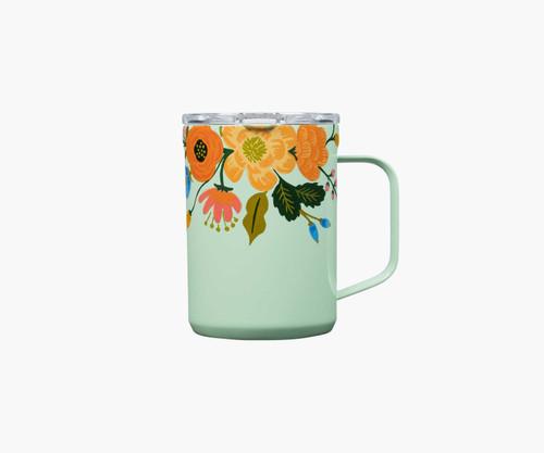 Cork- Mint Lively Floral Mug