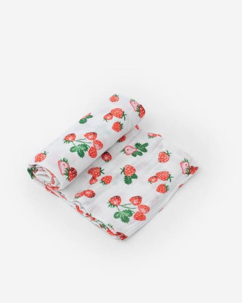 LU- Strawberry Patch Swaddle