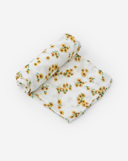 Ditzy Sunflower Swaddle