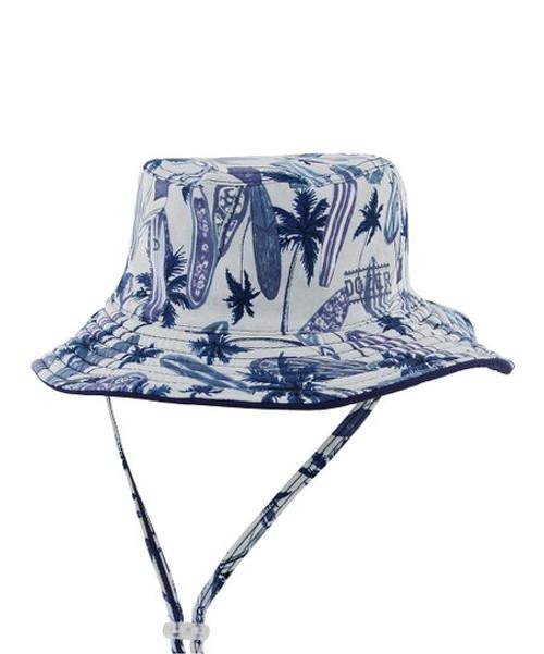 Wave Break Blue Size Sm Bucket Hat