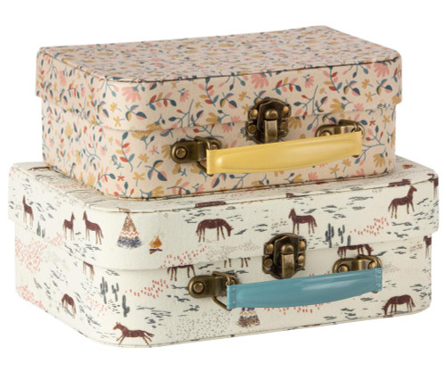 Set of 2 Fabric Suitcases