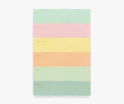 Color Block Weekly Memo Pad