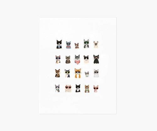 RPC- Cool Cats Art Print 8x10