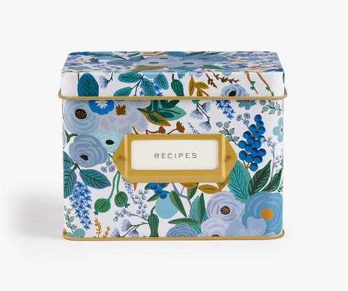 RPC- Garden Party Blue Recipe Box