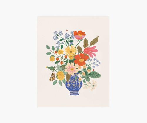 Strawberry Fields Bouquet Art Print 8x10