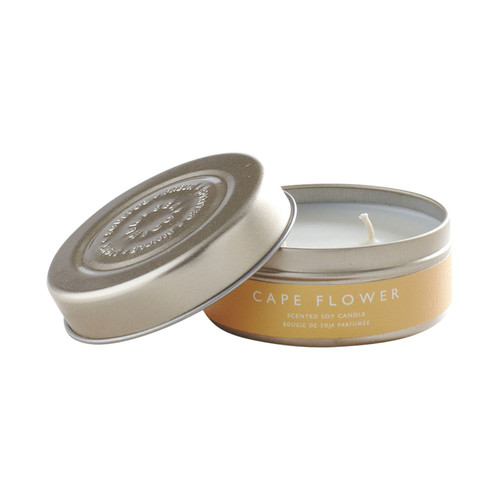 Mer- Cape Flower Tin Candle
