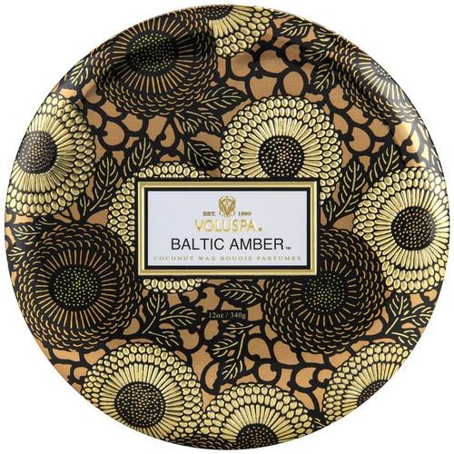 VOL- BALTIC AMBER 3 WICK TIN